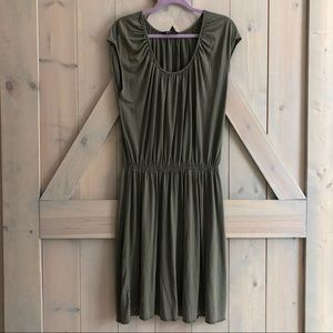 Banana republic silk olive green  dress womens xl